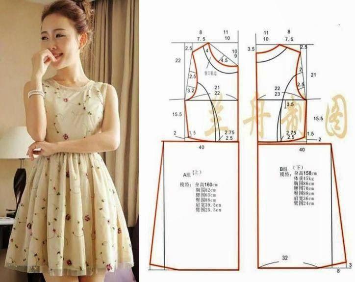 Выкройки платьев простой крой
