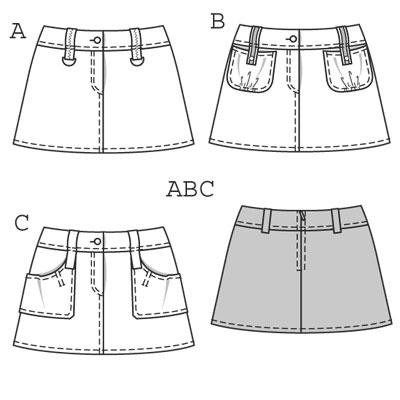 Юбки с запахом выкройки. Как сделать выкройку юбки полусолнце на резинке. Длинная белая юбка во
