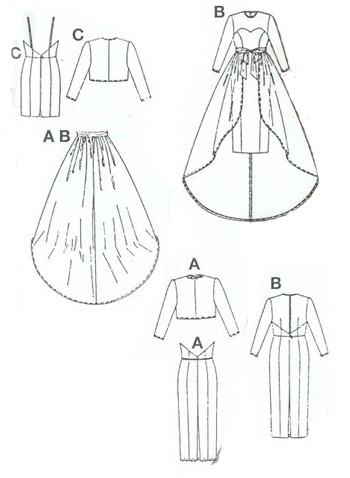Свадебное платье, выкройка