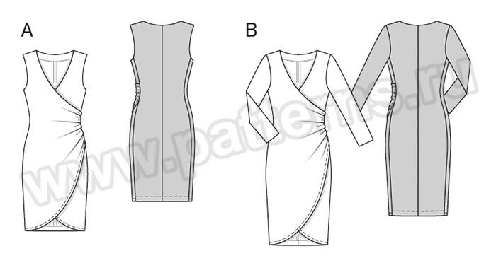 Как сшить трикотажное платье с запахом 2