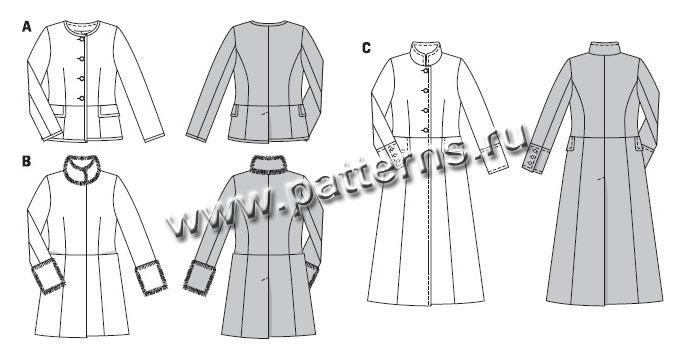 выкройка куртки и пальто:
