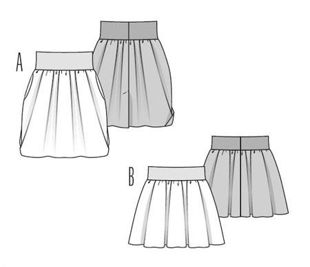 Выкройка Burda (Бурда) 7436 — Юбка (снята с производства) | Юбки
