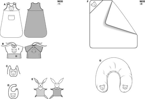 Как сшить мешок для новорожденного выкройка