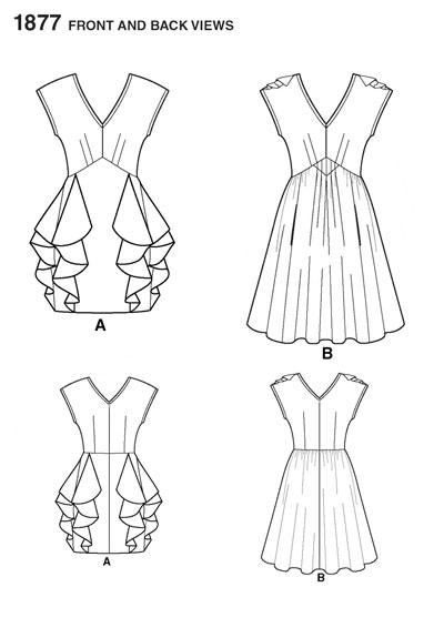 Выкройка свадебное платье короткое