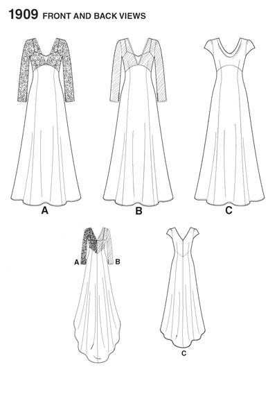 Выкройки свадебных платьев WomaNew.ru - уроки кройки и шитья