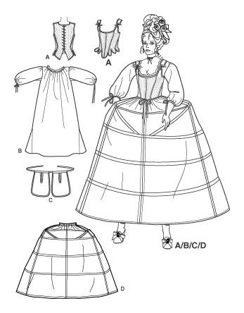 Сшить платья 18 века
