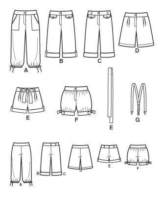 Женские шорты выкройки . . Кройка, шитье, вязание - способы и приемы