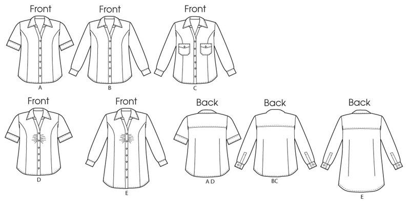 Модели выкроек рубашек женских