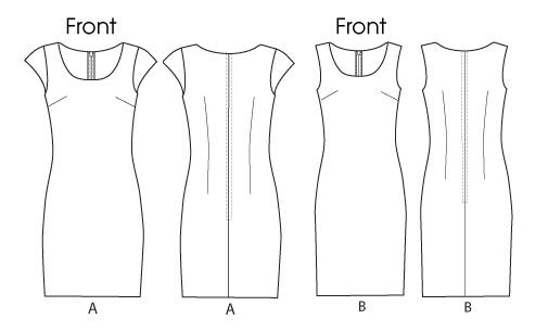 Платье прямое - B5768