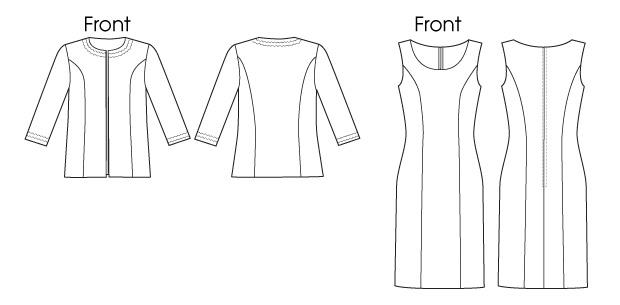 Butterick — Платье прямое,