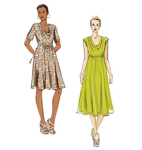 Как сшить платье с высокой талией 25