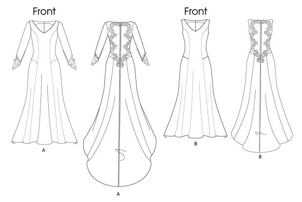 Выкройки свадебного платья своими руками фото