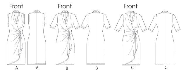 Платья с запахом выкройки
