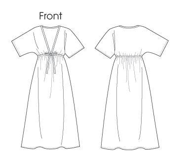 Простое платье с завышенной талией своими руками