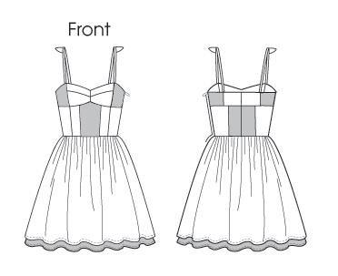 Раскрой лифа на платье