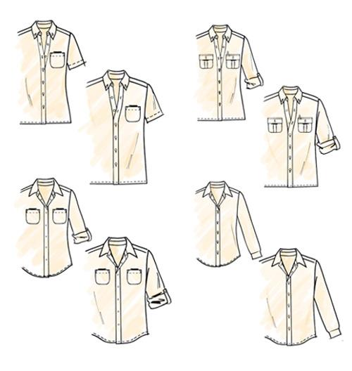 Выкройки женских рубашек. выкройка mccall s женская мужская рубашка