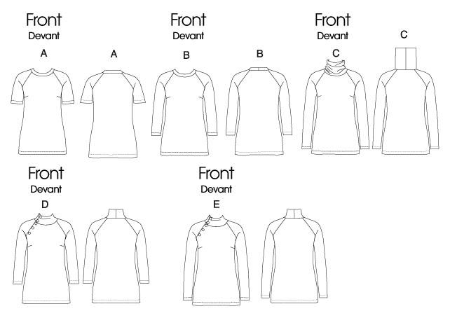 Выкройка мужского свитер-водолазки