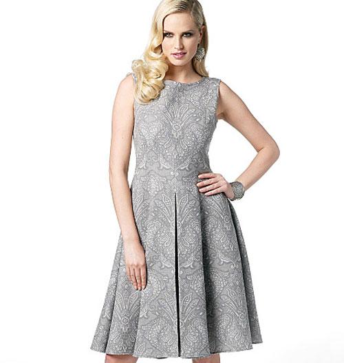 Вязаное Платье С Расклешенной Юбкой 8