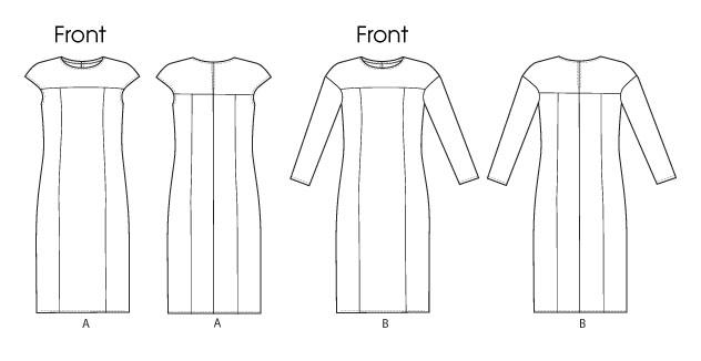Платье прямое - V8786