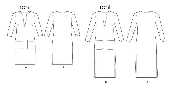 Платье прямое - V8824