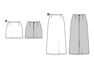 Выкройка из бурды прямой юбки