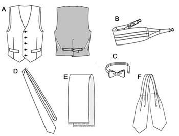 Выкройка мужского шейного платка