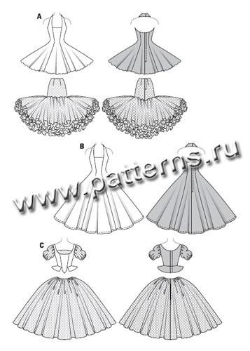 Бальное платье для барби выкройки