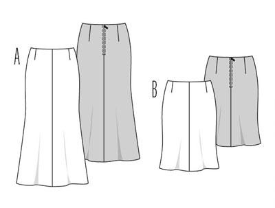 Выкроить юбку четырехклинку