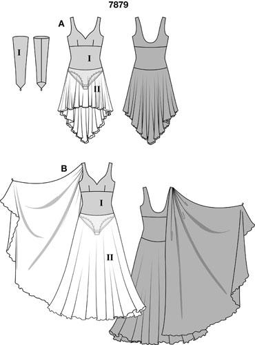 Выкройка платья для танца