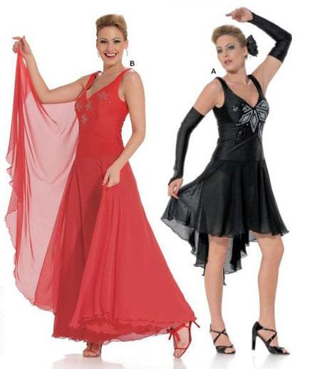 Выкройка на платье для бальных танцев