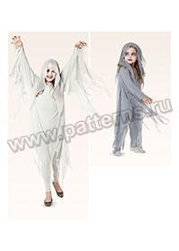 """Выкройка Burda (Бурда) 2370 — Карнавальный костюм """"Призрак"""""""