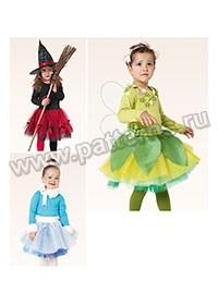 Выкройка Burda (Бурда) 2371 — Карнавальные костюмы: Ведьма, Принцесса льда, Эльф