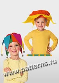 Выкройка Burda (Бурда) 2377 — Карнавальные шляпы