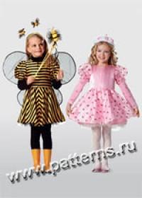 Выкройка Burda (Бурда) 2386 — Принцесса, бабочка, пчёлка