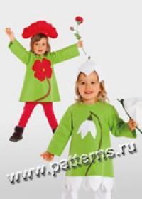 Выкройка Burda (Бурда) 2394 — Дети-Цветы (снята с производства)