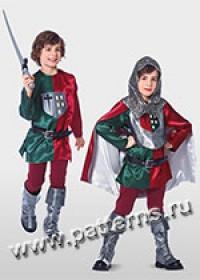 """Выкройка Burda (Бурда) 9446 — Карнавальный костюм """"Рыцарь"""""""