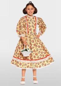 Выкройка Burda (Бурда) 9529 — Платье эпохи бидермайер