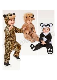 Выкройка Burda (Бурда) 2355 — Карнавальные костюмы: комбинезон Зверюшки: Леопард, Лев, Панда