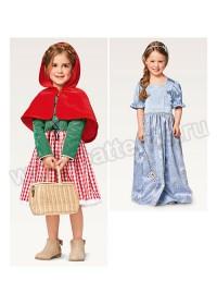 Выкройка Burda (Бурда) 2356 — Карнавальные костюмы: Красная шапочка и Принцесса