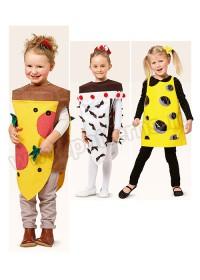 Выкройка Burda (Бурда) 2358 — Карнавальные костюмы: Пицца, Торт, Сыр