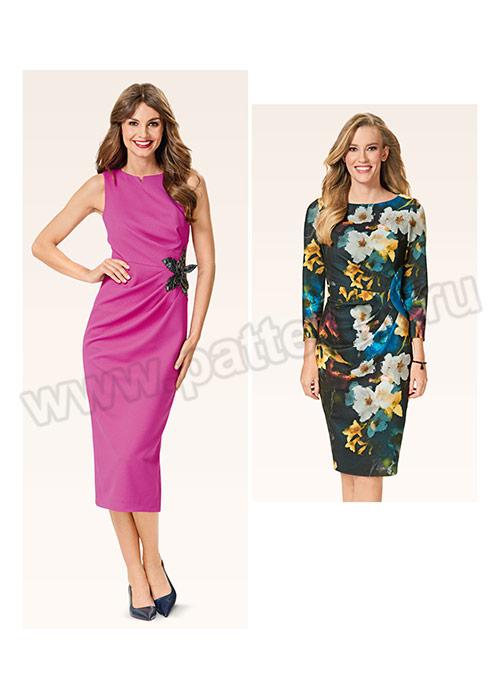 Выкройка Burda (Бурда) 6563 — Платье с драпировкой   Купить с ... c31560de738