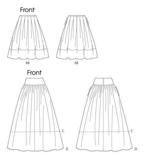 Выкройки юбок в складочку
