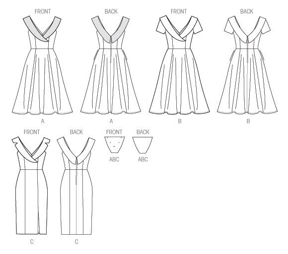 Платья с в образным вырезом выкройки
