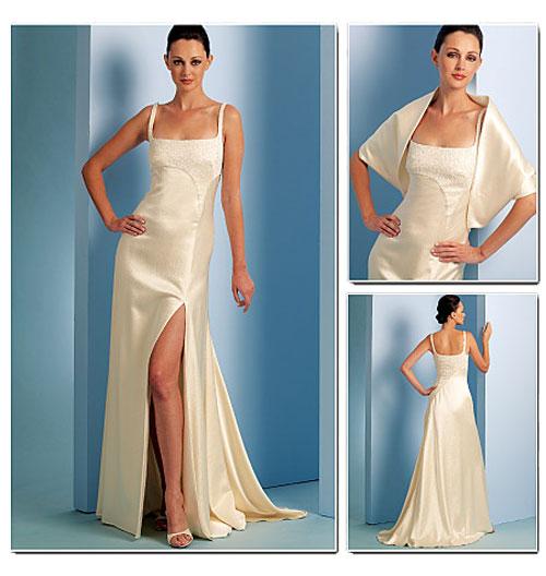 Вечернее платье с болеро с выкройкой