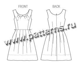 Крой платья со складкой