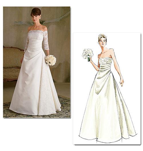 Выкройка свадебного платье фото