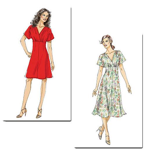 Крой платье с завышенной талией