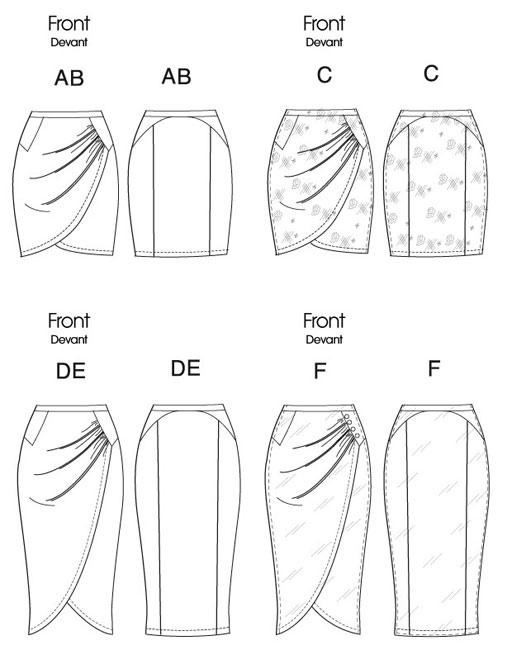 выкройка юбка с запахом фото