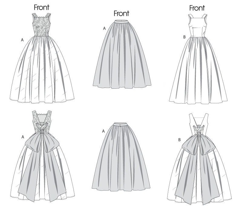 Выкройки свадебных платьев с фото