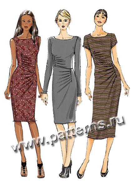 51dd3385e2c Выкройка Vogue — Платье с драпировкой - V8946 (снята с производства)• ...